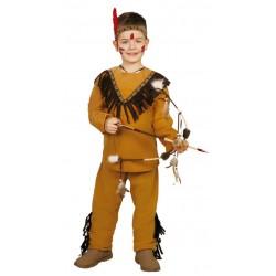 disfraz de indio salvaje para nio