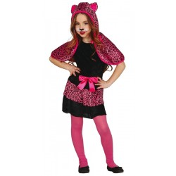disfraz de leopardo rosa para nia